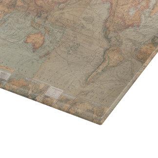Mapa del vintage del mundo (1870) tabla para cortar