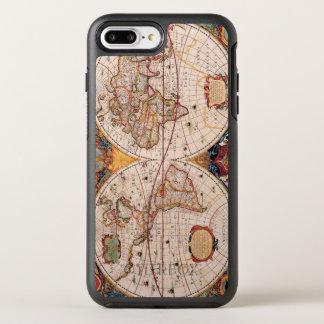 Mapa del vintage del mundo sabido circa 1600 funda OtterBox symmetry para iPhone 7 plus