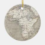 Mapa del vintage del ornamento de África Ornamente De Reyes