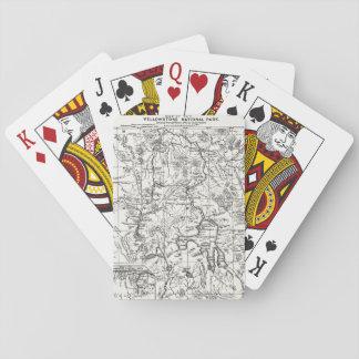 Mapa del vintage del parque nacional de barajas de cartas