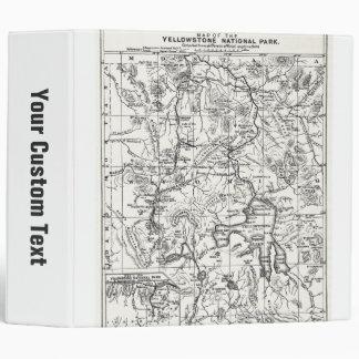 """Mapa del vintage del parque nacional de carpeta 2"""""""