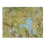 Mapa del vintage del parque nacional de postales