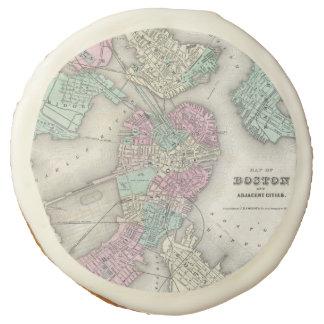 Mapa del vintage del puerto de Boston (1857)