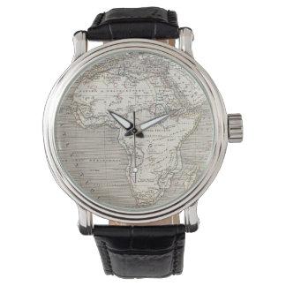 Mapa del vintage del reloj de África