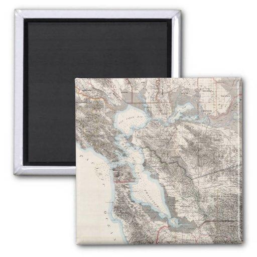 Mapa del vintage del San Francisco Bay (1873) Iman