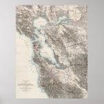 Mapa del vintage del San Francisco Bay (1873) Impresiones