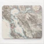 Mapa del vintage del San Francisco Bay (1873) Alfombrilla De Ratón