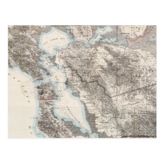 Mapa del vintage del San Francisco Bay (1873) Tarjeta Postal