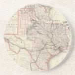 Mapa del vintage del sistema del ferrocarril de Te Posavasos Diseño