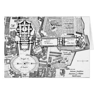 Mapa del vintage del Vatican (1914) Tarjeta De Felicitación