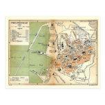 Mapa del vintage, Philippeville, Argelia, 1903 Tarjeta Postal