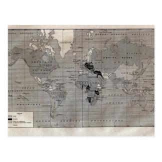"""Mapa del vintage, """"Primera Guerra Mundial"""" circa 1 Postales"""