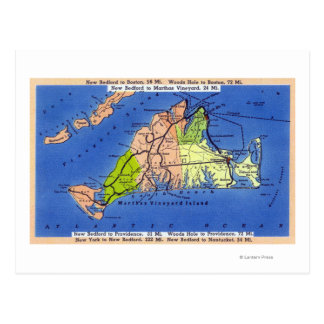 Mapa detallado de la isla tarjetas postales