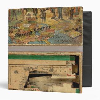 """Mapa disecado caja, Estados Unidos Carpeta 1 1/2"""""""
