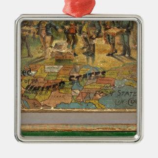 Mapa disecado caja, Estados Unidos Adorno Para Reyes