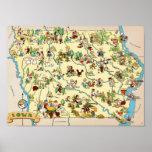 Mapa divertido de Iowa Impresiones