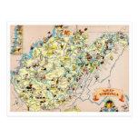 Mapa divertido de Virginia Occidental Postales