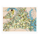 Mapa divertido de Virginia Postales