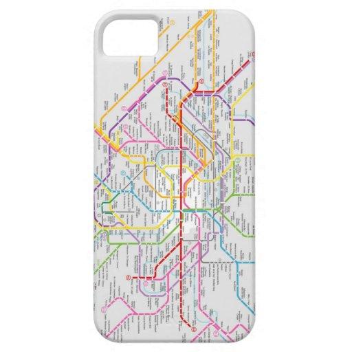 Mapa do Metrô de Paris - Capa de iPhone 5 Funda Para iPhone SE/5/5s