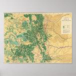 Mapa económico de Colorado Posters
