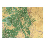 Mapa económico de Colorado Tarjeta Postal
