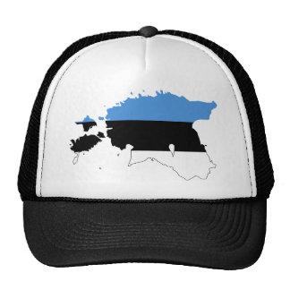 Mapa EE de la bandera de Estonia Gorros