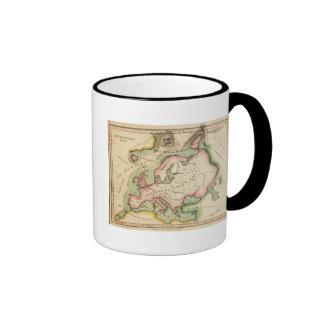 Mapa elemental tazas de café