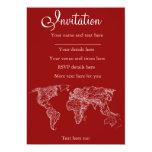Mapa en rojo invitación 12,7 x 17,8 cm