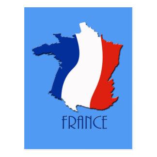 Mapa enrrollado de la postal de Francia