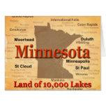 Mapa envejecido del orgullo del estado de tarjetas