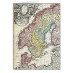 Mapa escandinavo del vintage felicitación