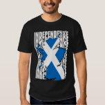 Mapa escocés de la independencia remera