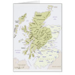 Mapa escocés del clan de Escocia Tarjeta