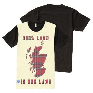 Mapa escocés T de Escocia de la reforma agraria de
