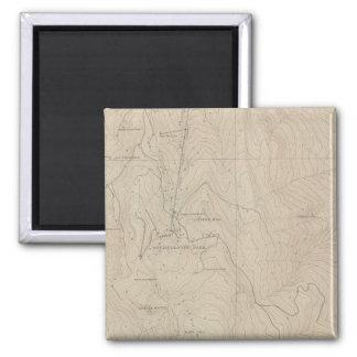 Mapa especial del atlas del parque de Tourtelotte Imán Cuadrado