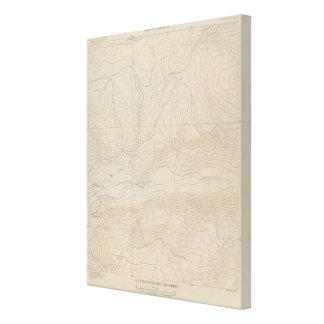Mapa especial del atlas del parque de Tourtelotte Impresion En Lona