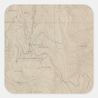 Mapa especial del atlas del parque de Tourtelotte Pegatina Cuadrada