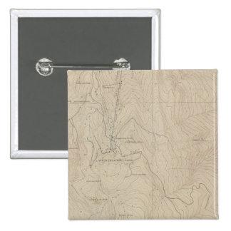 Mapa especial del atlas del parque de Tourtelotte Pin Cuadrada 5 Cm
