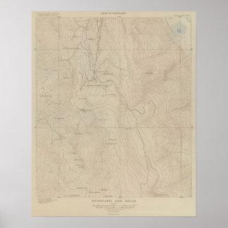 Mapa especial del atlas del parque de Tourtelotte Póster