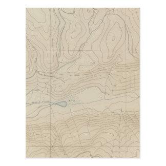 Mapa especial del atlas del parque de Tourtelotte Tarjetas Postales