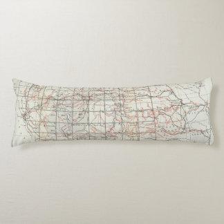Mapa esquelético almohada
