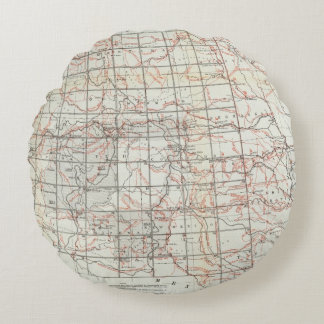 Mapa esquelético cojín redondo