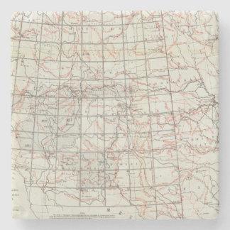 Mapa esquelético posavasos de piedra