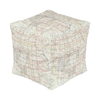 Mapa esquelético pouf cuadrado