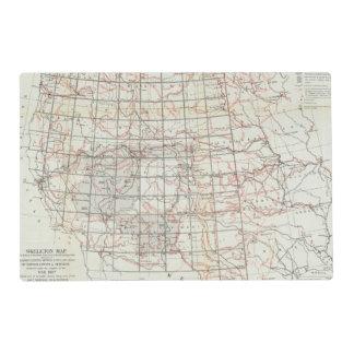 Mapa esquelético tapete individual
