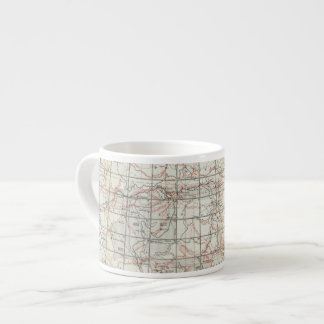 Mapa esquelético taza espresso