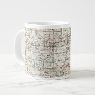 Mapa esquelético taza grande