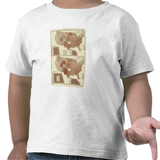 Mapa estadístico de las muertes camisetas