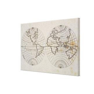 Mapa estereográfico impresión en lona estirada