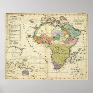 Mapa etnográfico de África Impresiones